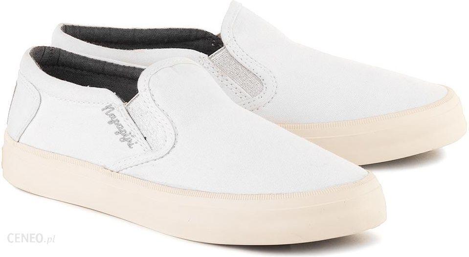 Buty Napapijri Erin Białe Canvasowe Trampki Damskie