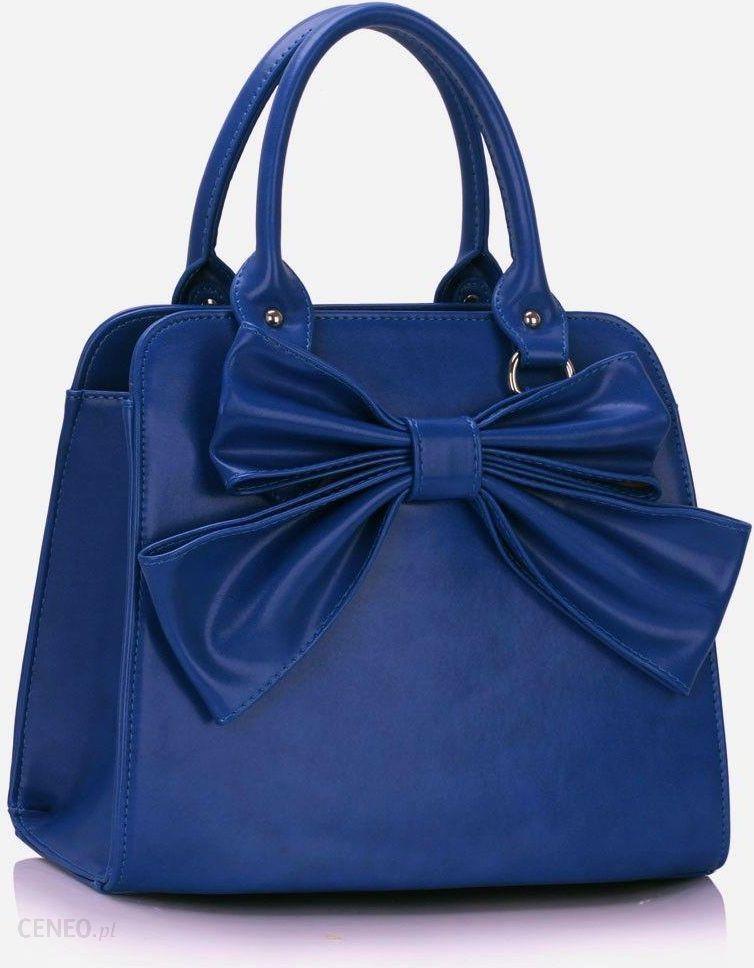 Kobaltowa torebka z kokardą BLUE kobaltowy