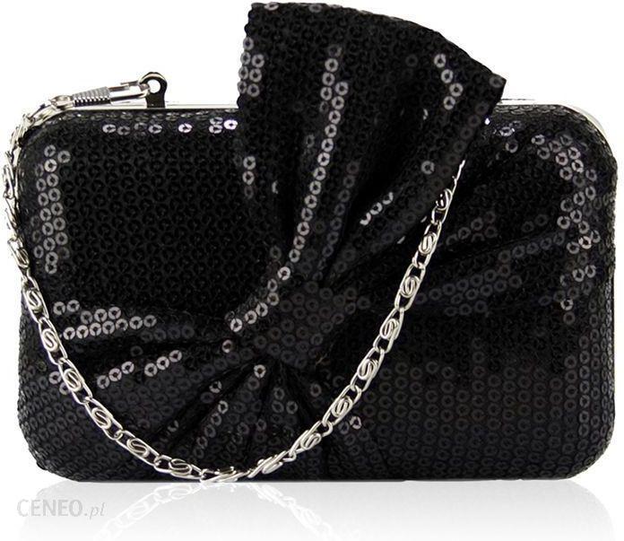 f46b6e22129ed Czarna torebka wizytowa szkatułka z cekinami - czarny - Ceny i ...
