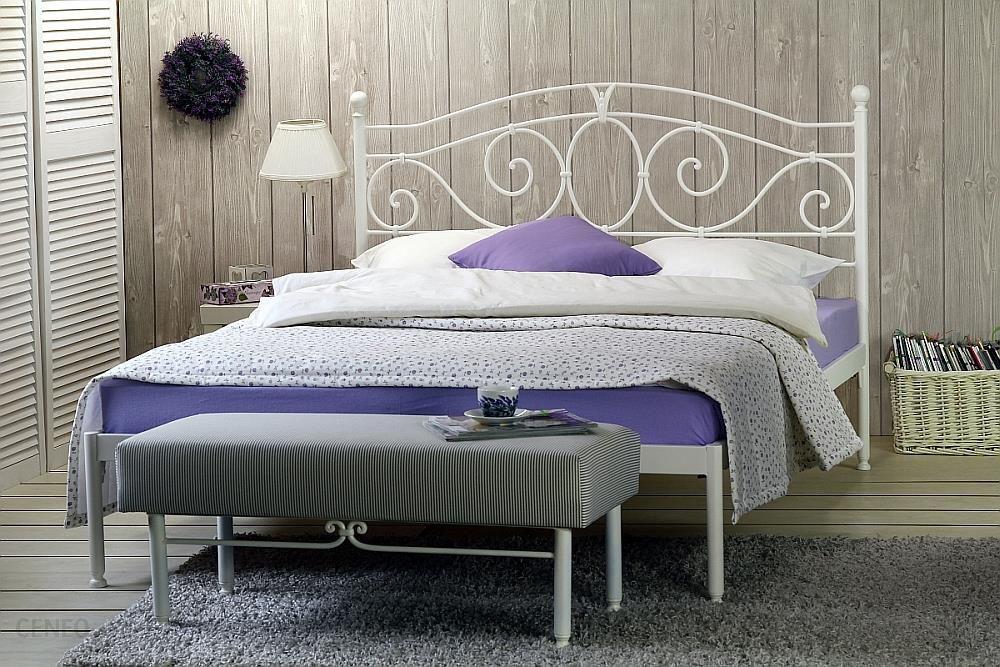 Artbed łóżko Metalowe Kute Sylvia Jeden Szczyt Dwuosobowe