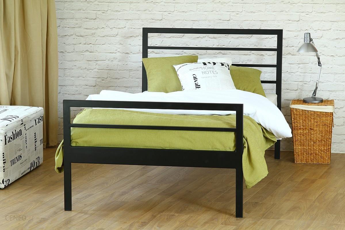 Artbed łóżko Jednoosobowe Metalowe Simply Z Dwoma Szczytami