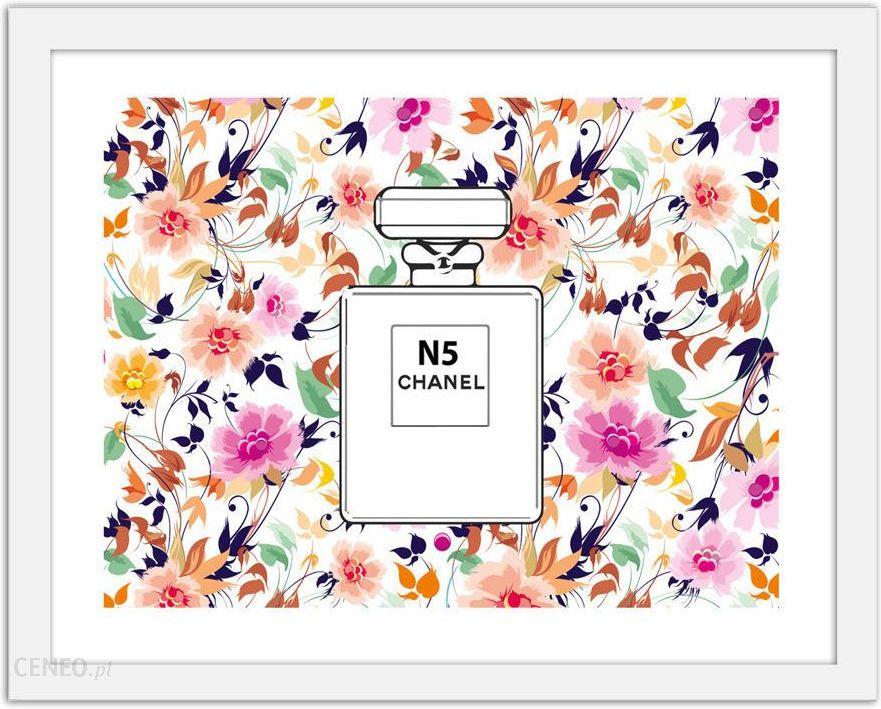 Perfumy Chanel N5 Na Kwiecistym Tle Obrazy W Ramie Biały Opinie