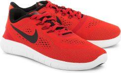 NIKE Free Rn Czerwone Nylonowe Sportowe Dziecięce 833989