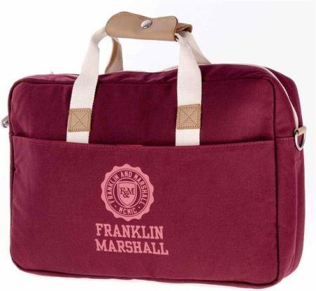fb938a074c8b7 torba na ramię FRANKLIN & MARSHALL - Classic reporter - bordeaux solid ...