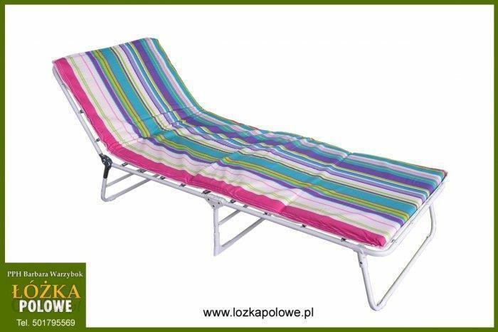 Stiliac łóżko Polowe Ibiza Z Materacem I Regulowanym Zagłówkiem