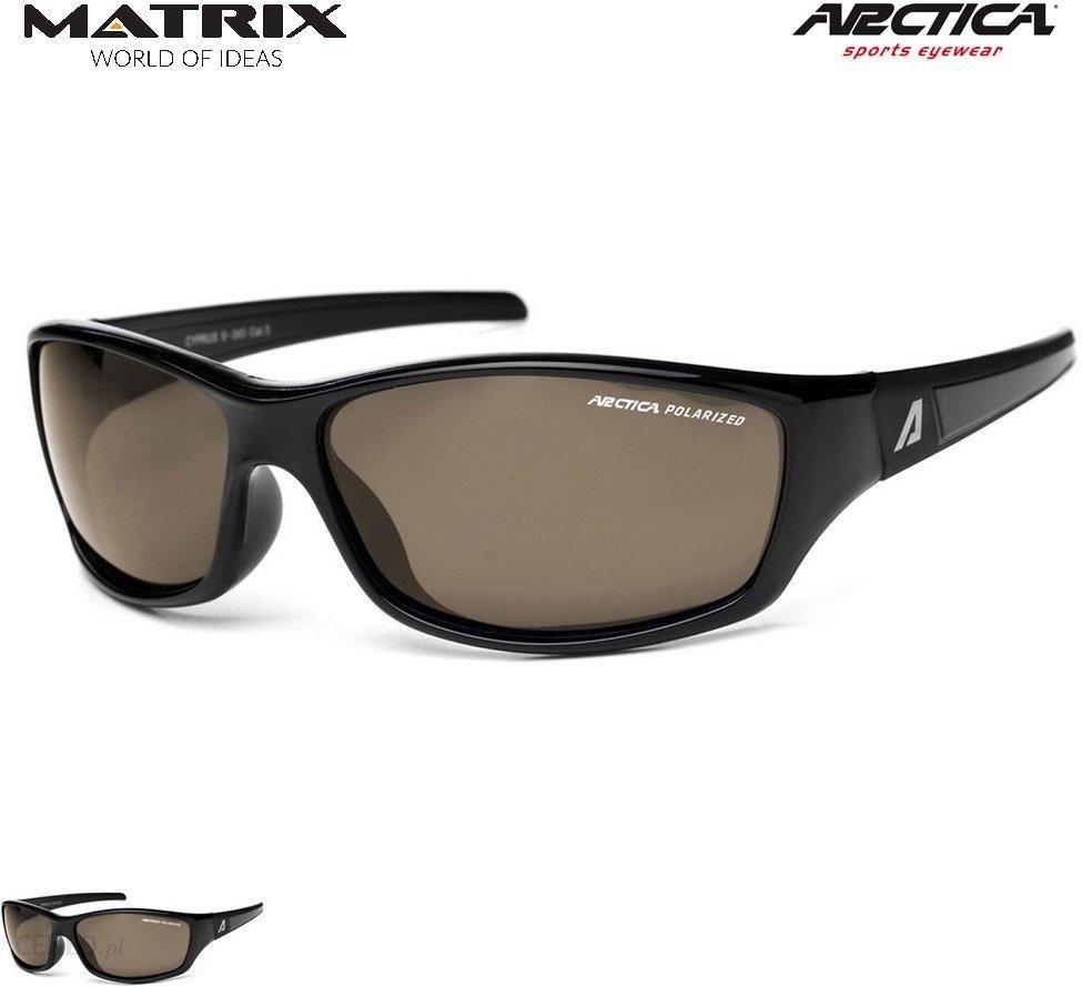 Okulary polaryzacyjne ARCTICA S 243 A damskie męskie brązowy
