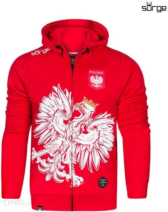 Surge Polonia Bluza patriotyczna z kapturem Orzeł Sport (CZERWONA)