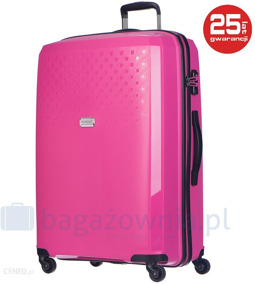 95a94139c354d Duża walizka PUCCINI PP010A-61-M7-028 - różowy - Ceny i opinie ...