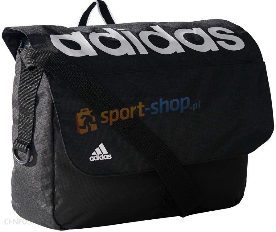 d1384ec3a8bfe Torba listonoszka Linear Performance Messenger Bag Adidas (czarno-biała) - zdjęcie  1