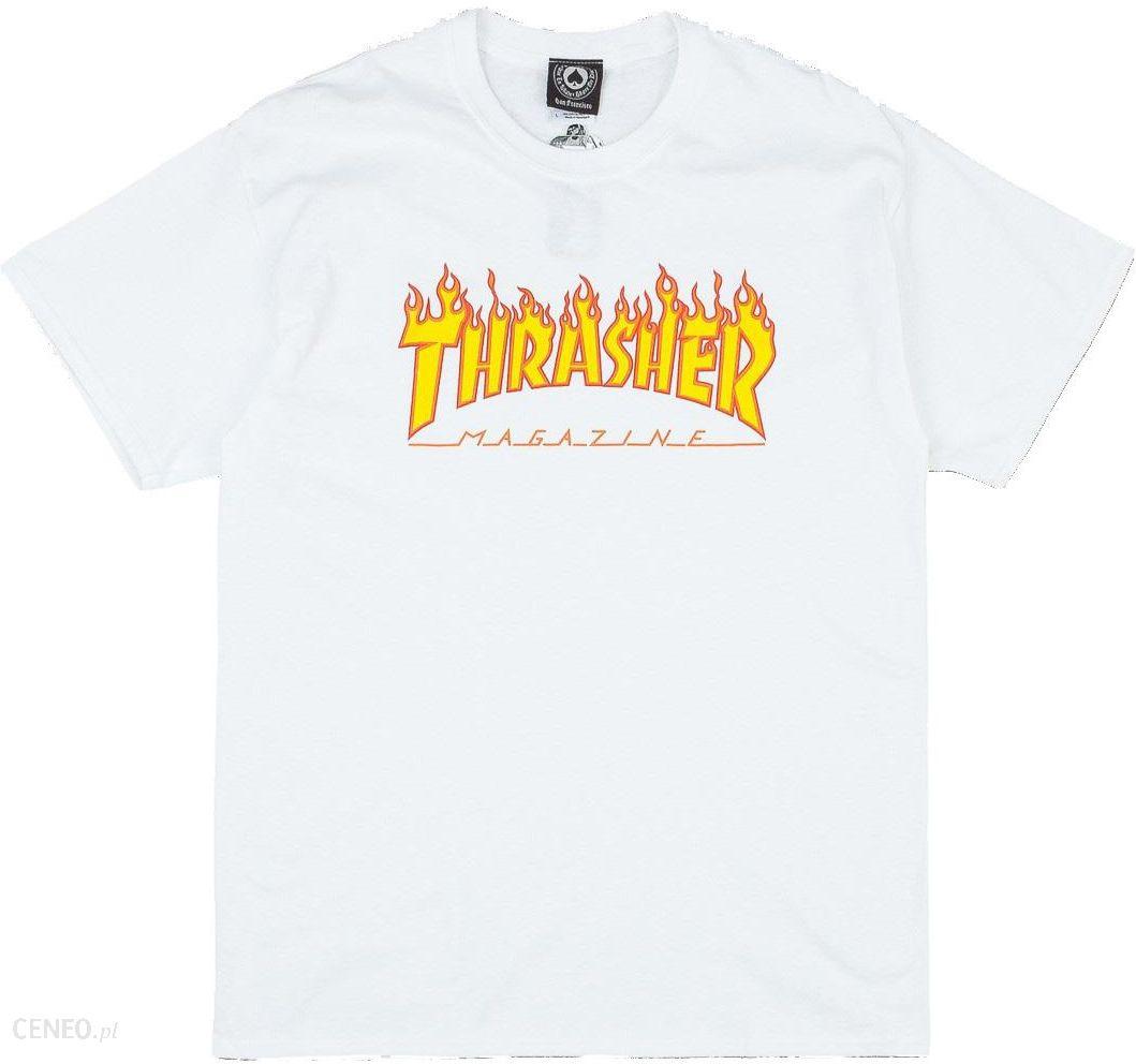Koszulka Thrasher Flame Logo White