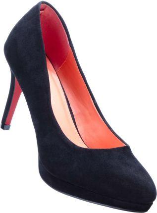 5f8b232508c281 Buty szpilki czerwone zamsz wiązane 17cm 36 - Ceny i opinie - Ceneo.pl