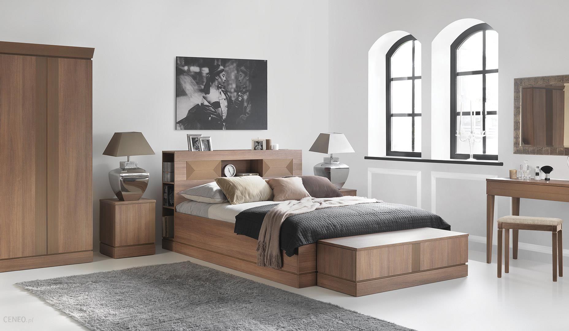 Meble Vox Classic łóżko 2 Osobowe Ze Szczytem Z Półkami