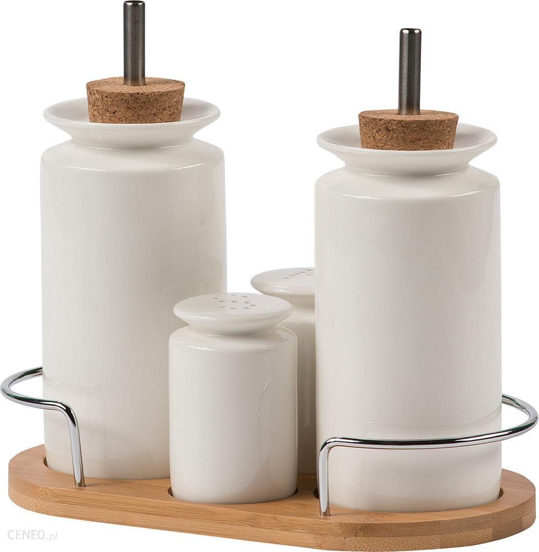 zestaw pojemnik243w do przypraw octu i oliwy zbiorniczki