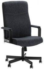 MALKOLM Krzesło obrotowe, tkanina Edsken czarny (930196802
