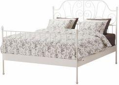 Ikea Leirvik Rama łóżka Biały Leirsund 39019824 Opinie I Atrakcyjne Ceny Na Ceneopl