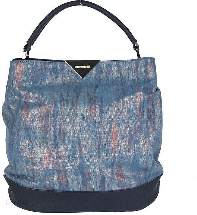 9af0ee2f1f0d8 MONNARI Srebrno-niebieska miękka torebka damska worek - czarny ...