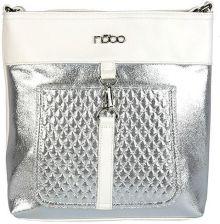06f9f6fbd11e9 Biało-srebrna torebka na ramię z długim paskiem - biały
