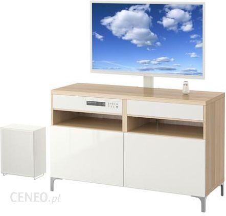 Ikea Besta Uppleva Kom Tv 40 21 System Dźwiękowy Dąb Bejcowany Biało
