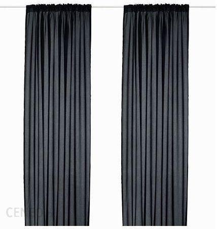 Ikea Vivan Zasłona 2 Szt Czarny 300x145 40297565