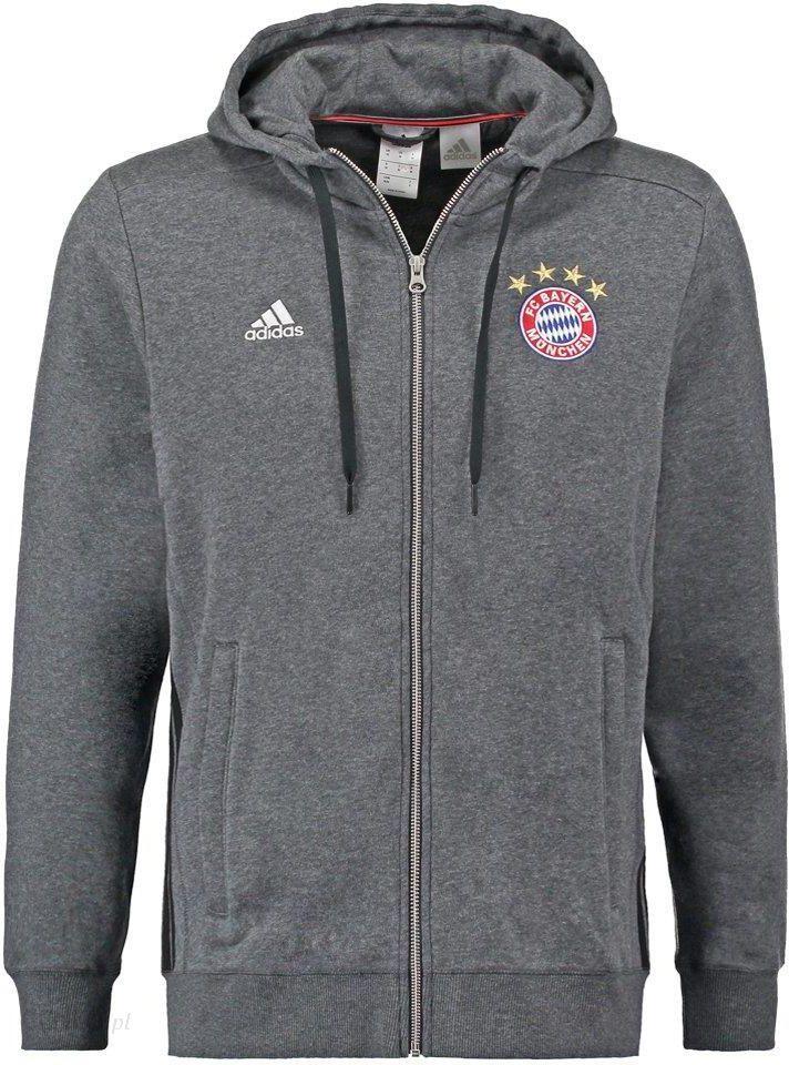 adidas Performance FC BAYERN MÜNCHEN Bluza rozpinana dark grey heatherblack