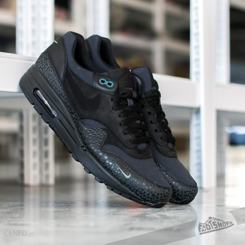 94b040ae720ce Nike Air Max 1 Premium Miniswoosh Black  Black-Bonsai - Ceny i ...