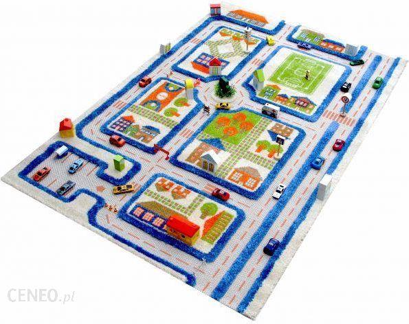Ivi Carpets Miasto Zabaw Niebieski Dywan 3d 134x180 Cm