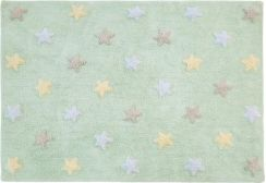 Lorena Canals Tricolor Stars Soft Mint Dywan 120 X 160 cm