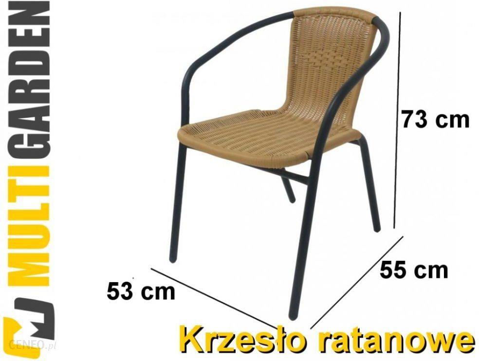 Multi Garden Krzesło Ogrodowe Balkonowe Z Polirattan Rattan