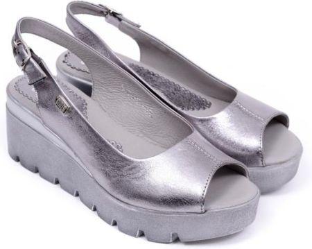 Sandały damskie Simen 6812 VS04 kryształki 40 srebrny