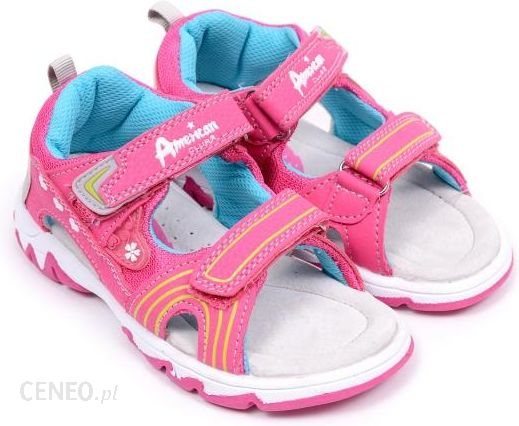 bae8a85a Sandały dziecięce American Club K15671 fuxia/blue 27 różowy - Ceny i ...