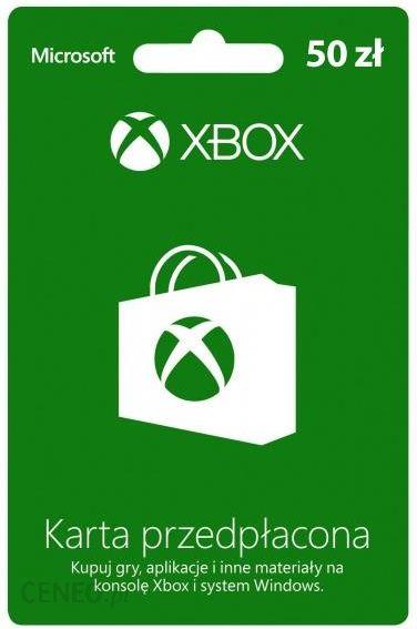 Microsoft Karta Przedplacona Xbox 50 Pln Karta Pre Paid