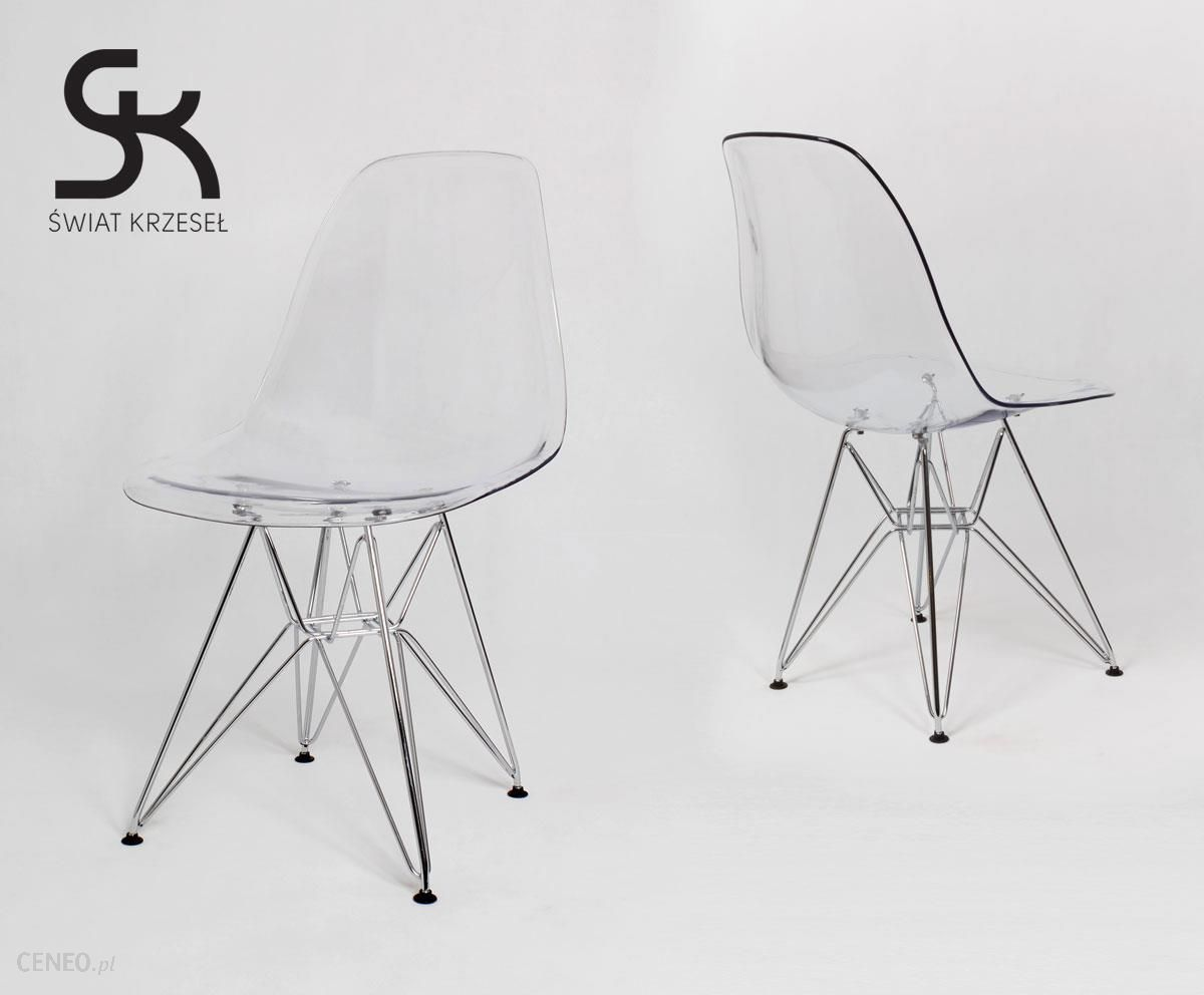 Świat Krzeseł Kr012 Tr Transparentne Krzesło Inspirowane Dsw Eames Eiffel Chro