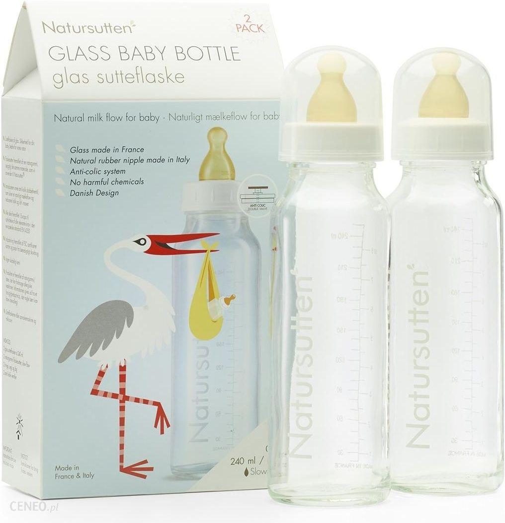 Natursutten Szklana butelka do karmienia (2x240 ml)