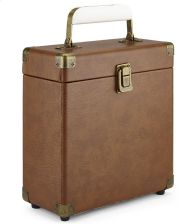 GPO Retro Portable Carry Case for 7-Inch Vinyl Records - Brown - zdjęcie 1