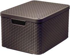 1ee4ec871a233 Koszyk do przechowywania z pokrywą Curver Style L ciemny brąz