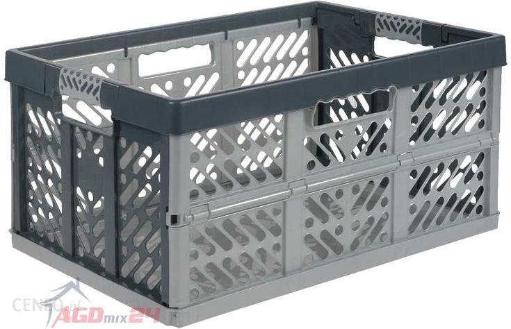 Świeże Kosz składany skrzynia magazynowa Keeeper Ben 45L srebrno-szary AU92