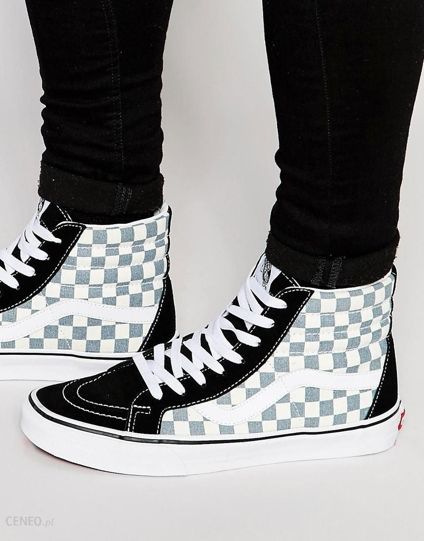 vans sk8 hi black checkerboard