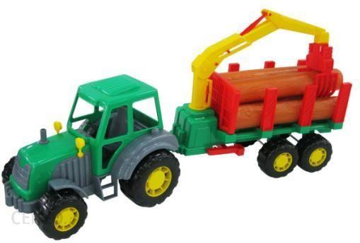 WADER-POLESIE Mistrz Traktor z naczepą w siatce Spielzeugautos