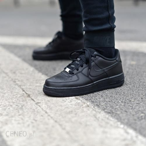 Nike Air Force 1 Low GS Buty Nike Air Force 1 Low (GS) All Black (314192-009) - Ceny i ...