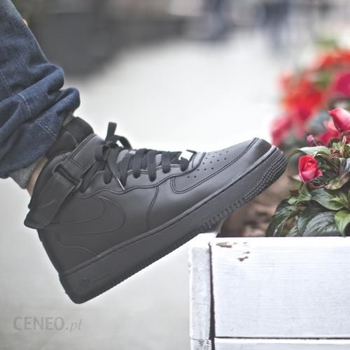 buty nike air force 1 mid (gs) all black