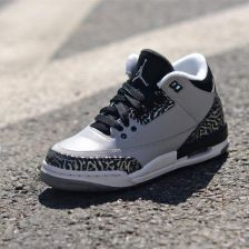 new product 31c75 61028 cheapest buty air jordan 3 retro bg wolf grey 398614 004 0b95c 0201b