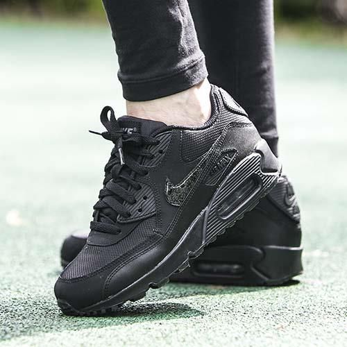 best service 68393 ad9e9 Buty Nike Air Max 90 Mesh (GS) Black (724824-001) - Ceny i opinie ...