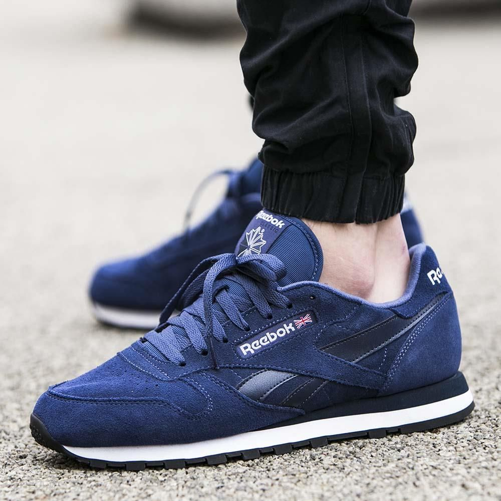 ... blue Buty Reebok Classic Leather Suede ... 394bc18df
