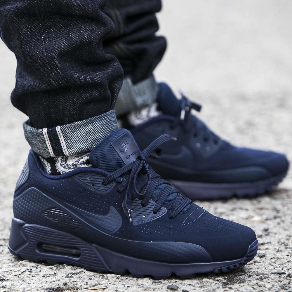 Nike Air Max 90 Ultra Moire Midnight Navy Mid Navy White Ceny i opinie Ceneo.pl