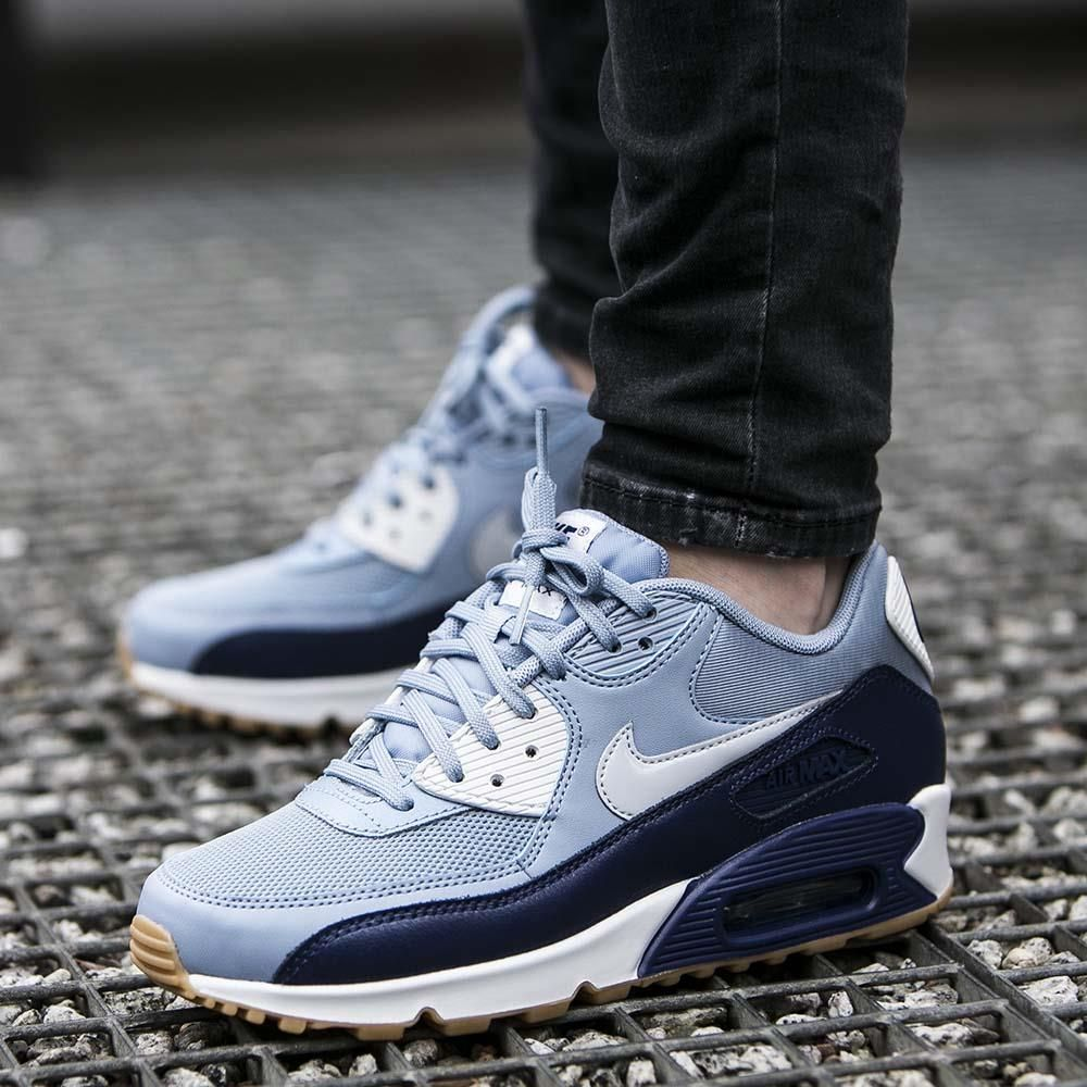 Dobra jakość Nike Buty WMNS Air Max 90 Essential Blue Grey