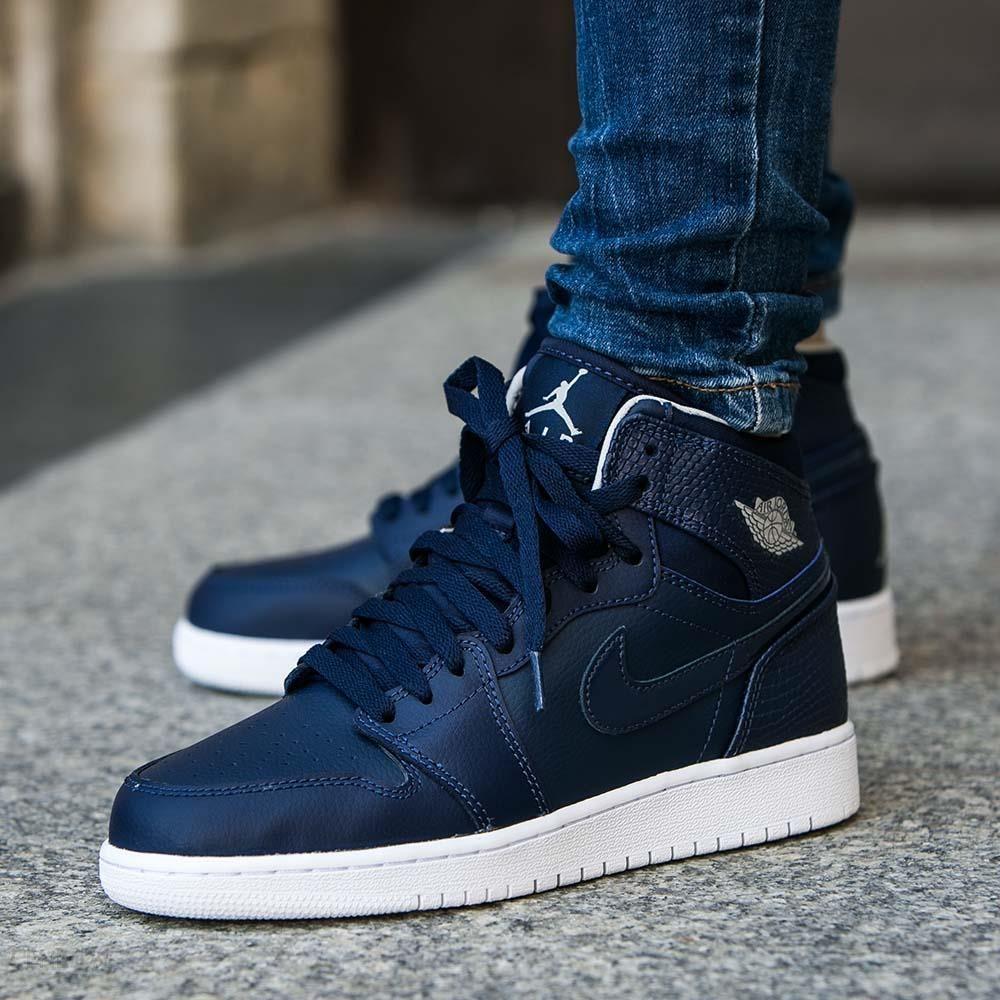 Obuwie Młodzieżowe Buty Nike Air Jordan 1 Mid Bg lifestyle