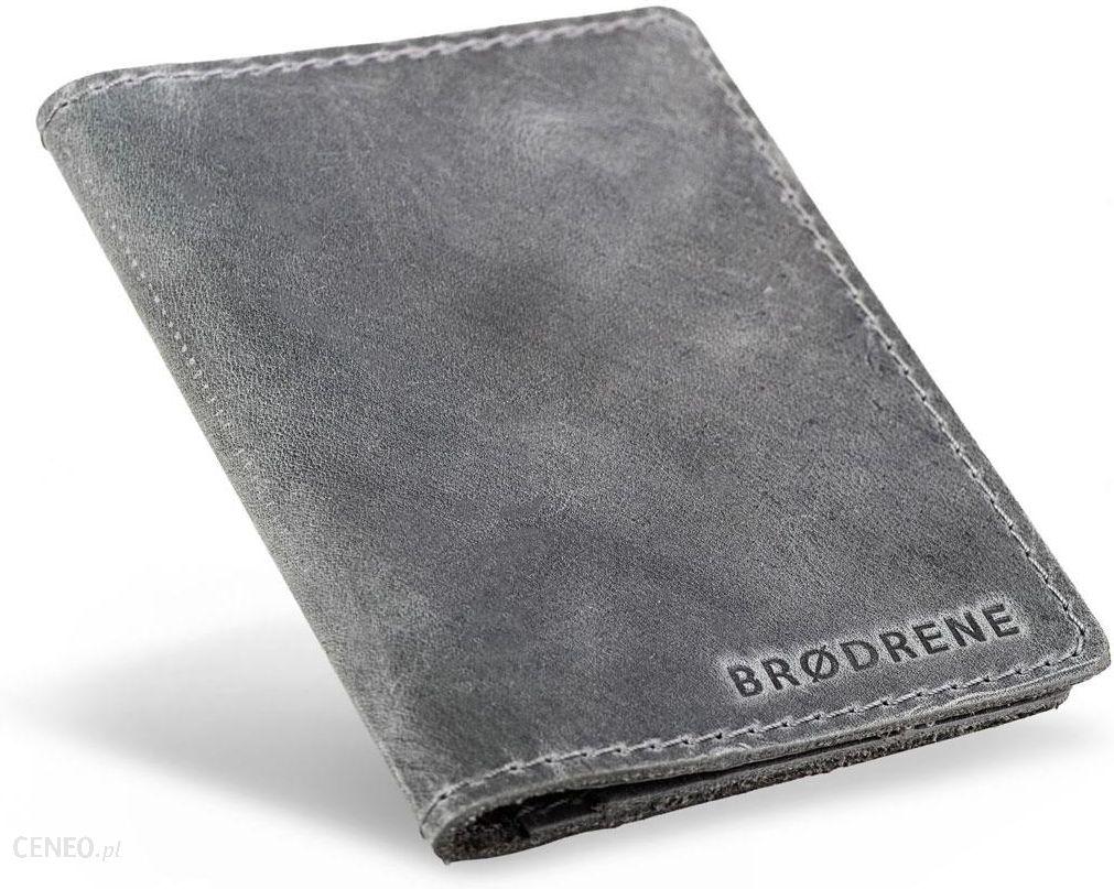 70d5cc84e2e0c Cienki męski portfel skórzany Brodrene SW01 S - Ceny i opinie - Ceneo.pl