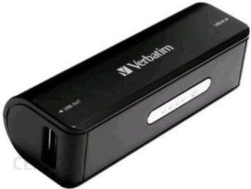 Powerbank Verbatim Portable Power Pack 2600mAh Czarny (49949) - zdjęcie 1