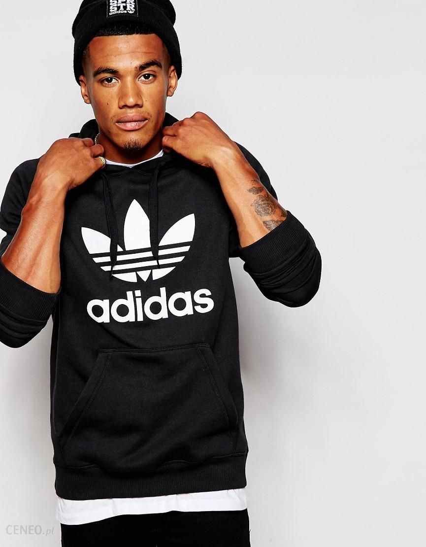 Trefoil Sweatshirt In Black Black (adidas Originals