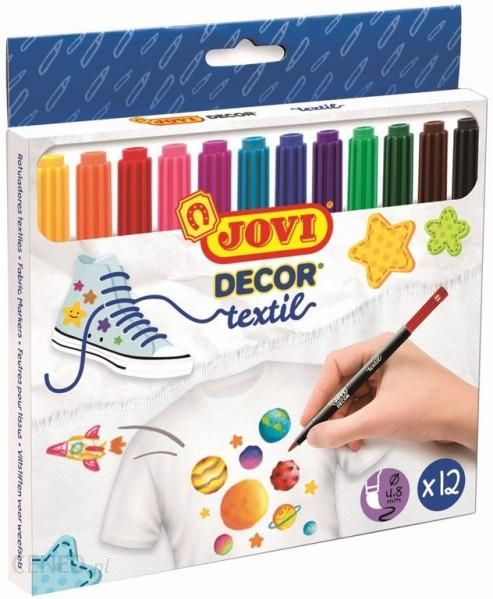 JOVI Flamastry dekoracyjne do tkanin 12 kolorów JOVI - zdjęcie 1